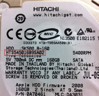 Hitachi Model Number