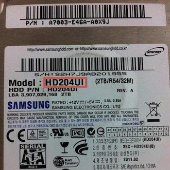 Samsung Model Number