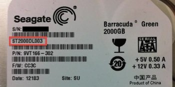 Seagate Model Number
